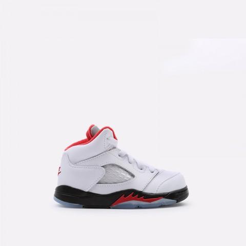 детские белые  кроссовки jordan 5 retro (td) 440890-102 - цена, описание, фото 1