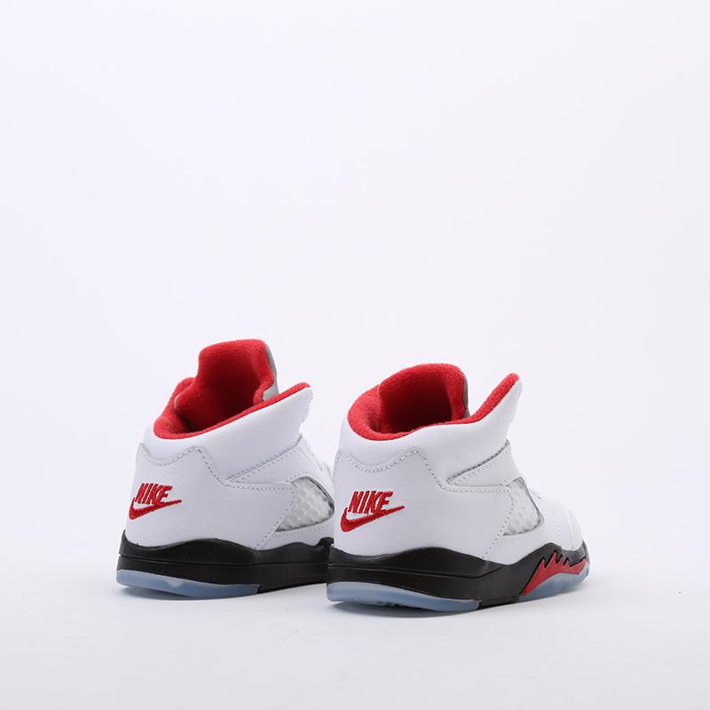 детские белые  кроссовки jordan 5 retro (td) 440890-102 - цена, описание, фото 3