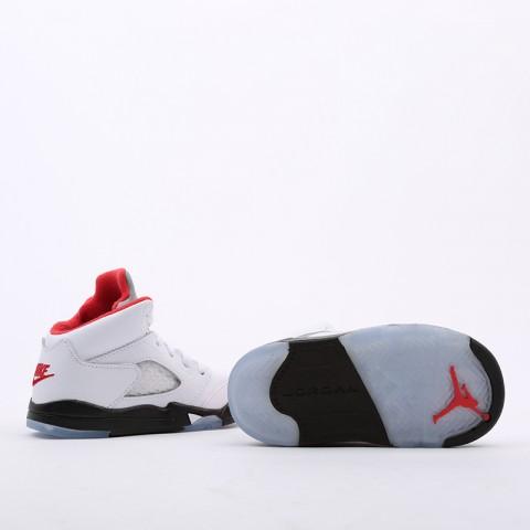 детские белые  кроссовки jordan 5 retro (td) 440890-102 - цена, описание, фото 4