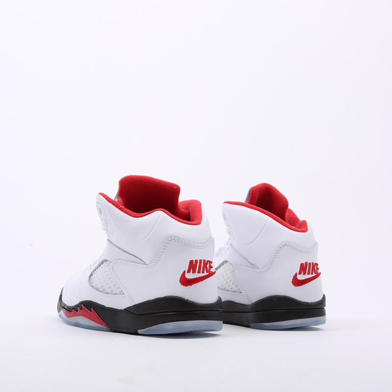 детские белые  кроссовки jordan 5 retro (ps) 440889-102 - цена, описание, фото 3