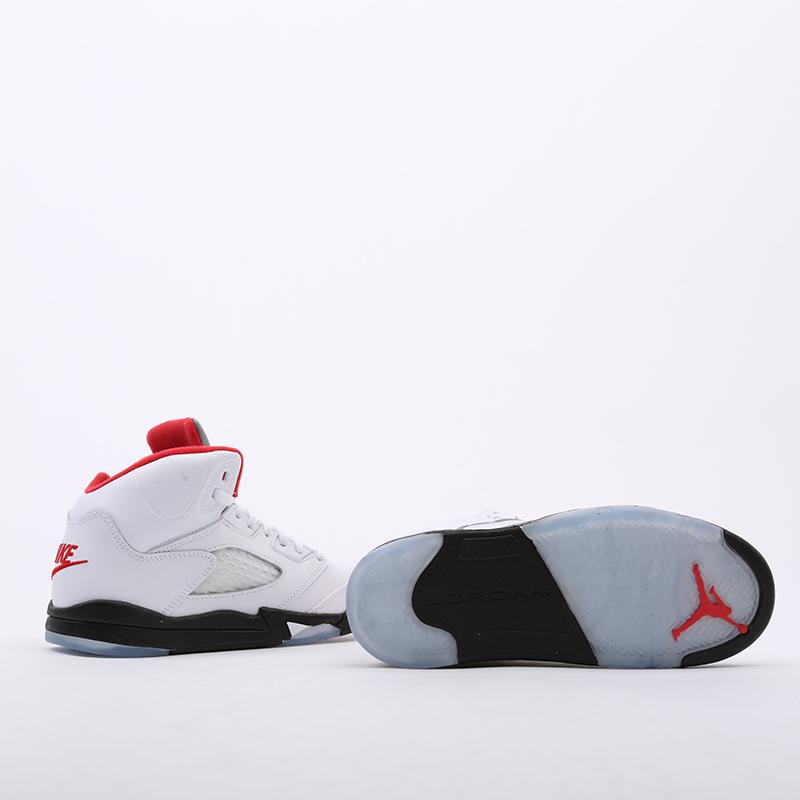 детские белые  кроссовки jordan 5 retro (ps) 440889-102 - цена, описание, фото 4