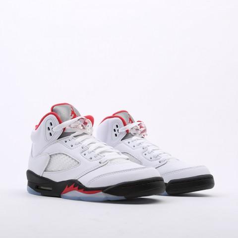 женские белые  кроссовки jordan 5 retro (gs) 440888-102 - цена, описание, фото 4