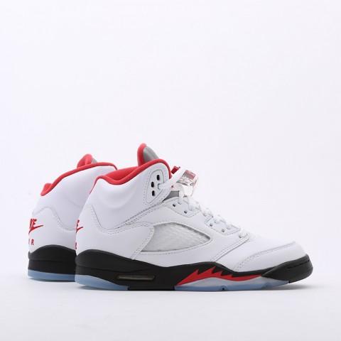 женские белые  кроссовки jordan 5 retro (gs) 440888-102 - цена, описание, фото 2