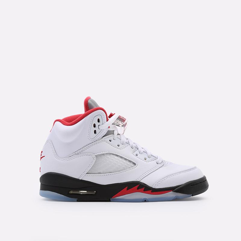 женские белые  кроссовки jordan 5 retro (gs) 440888-102 - цена, описание, фото 1