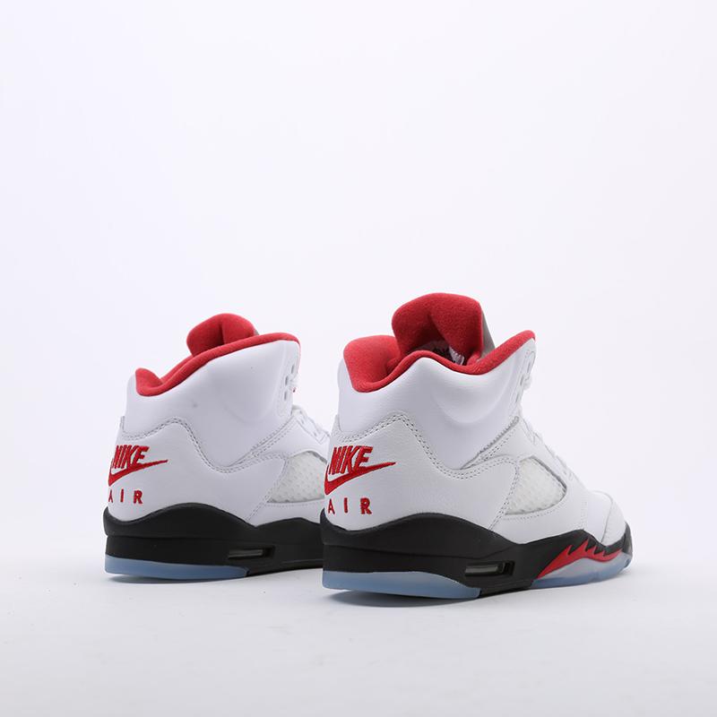 женские белые  кроссовки jordan 5 retro (gs) 440888-102 - цена, описание, фото 3