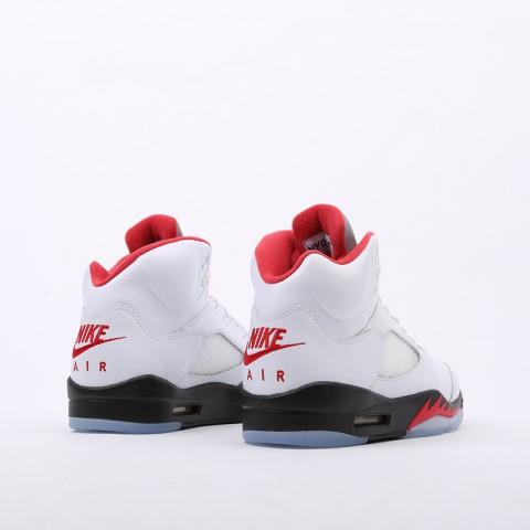 мужские белые  кроссовки jordan 5 retro DA1911-102 - цена, описание, фото 3