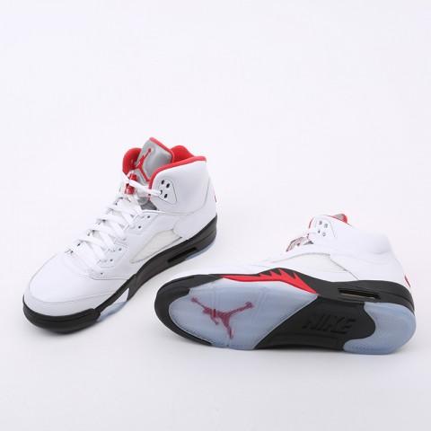 мужские белые  кроссовки jordan 5 retro DA1911-102 - цена, описание, фото 5