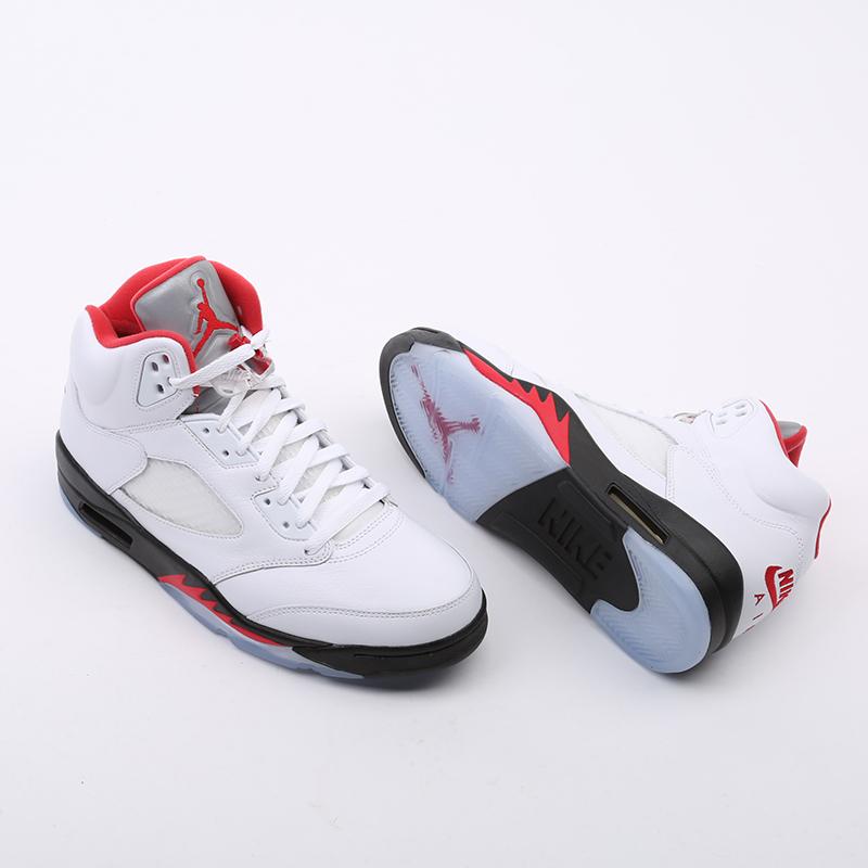 мужские белые  кроссовки jordan 5 retro DA1911-102 - цена, описание, фото 6