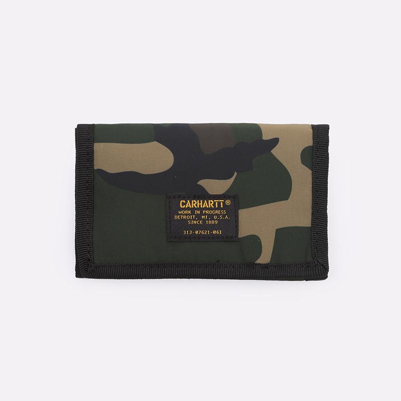 камуфляж  бумажник carhartt wip ashton wallet i025408-camo laurel - цена, описание, фото 1