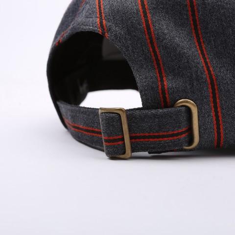 серую  кепка stussy big logo striped cap 131926-charcoal - цена, описание, фото 4