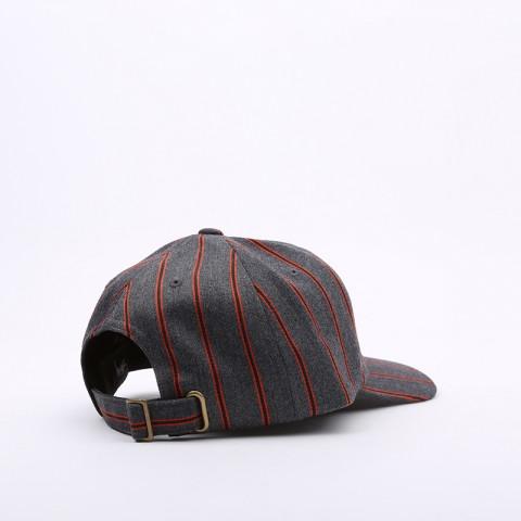 серую  кепка stussy big logo striped cap 131926-charcoal - цена, описание, фото 2