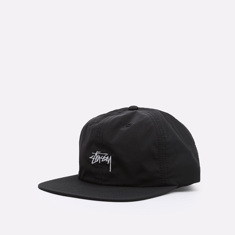 чёрную  кепка stussy strapback cap 131939-black - цена, описание, фото 1