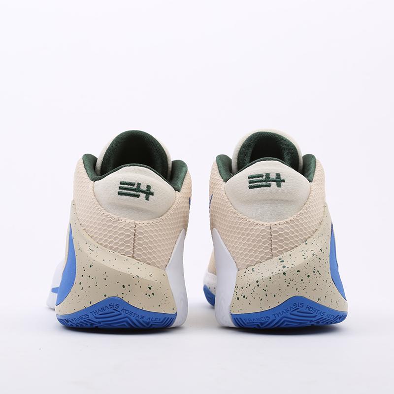 бежевые  кроссовки nike zoom freak 1 BQ5422-200 - цена, описание, фото 8