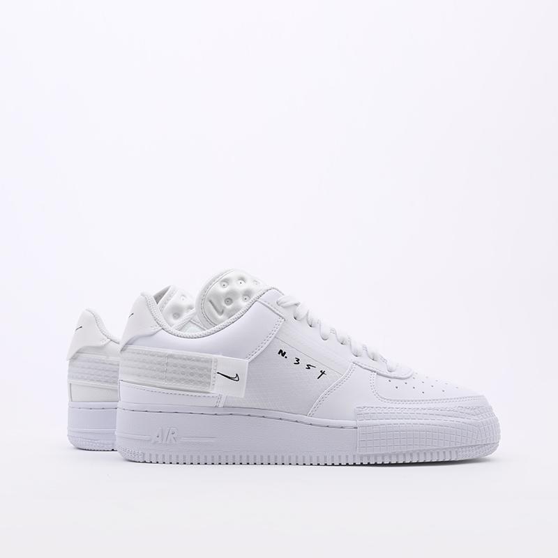 мужские белые  кроссовки nike air force 1 type 2 CT2584-100 - цена, описание, фото 2