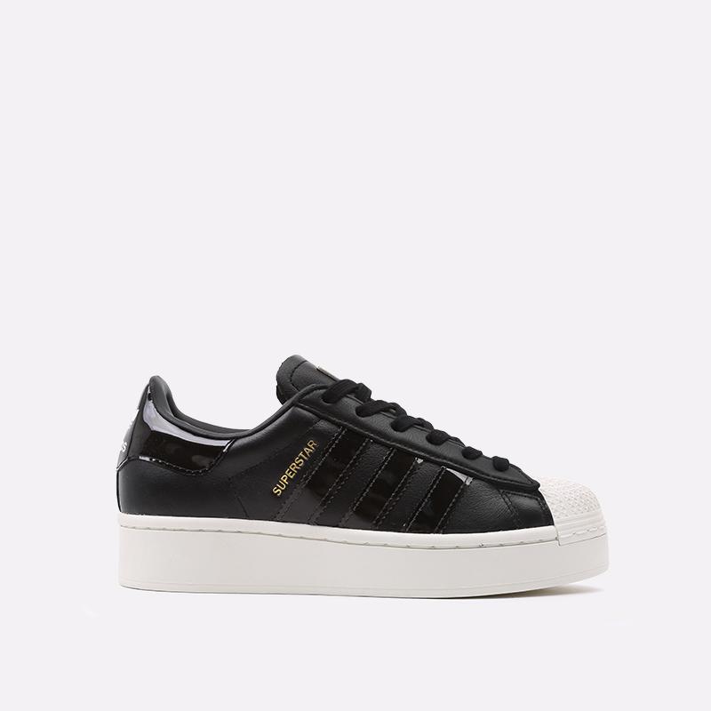 женские черные  кроссовки adidas superstar bold w FV3354 - цена, описание, фото 1