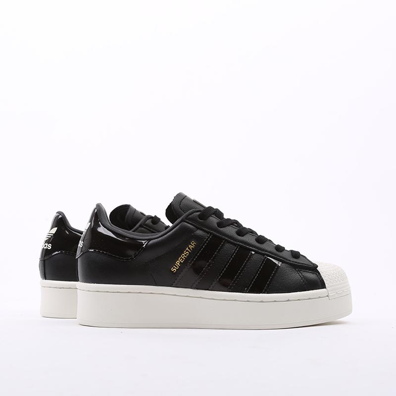 женские черные  кроссовки adidas superstar bold w FV3354 - цена, описание, фото 2