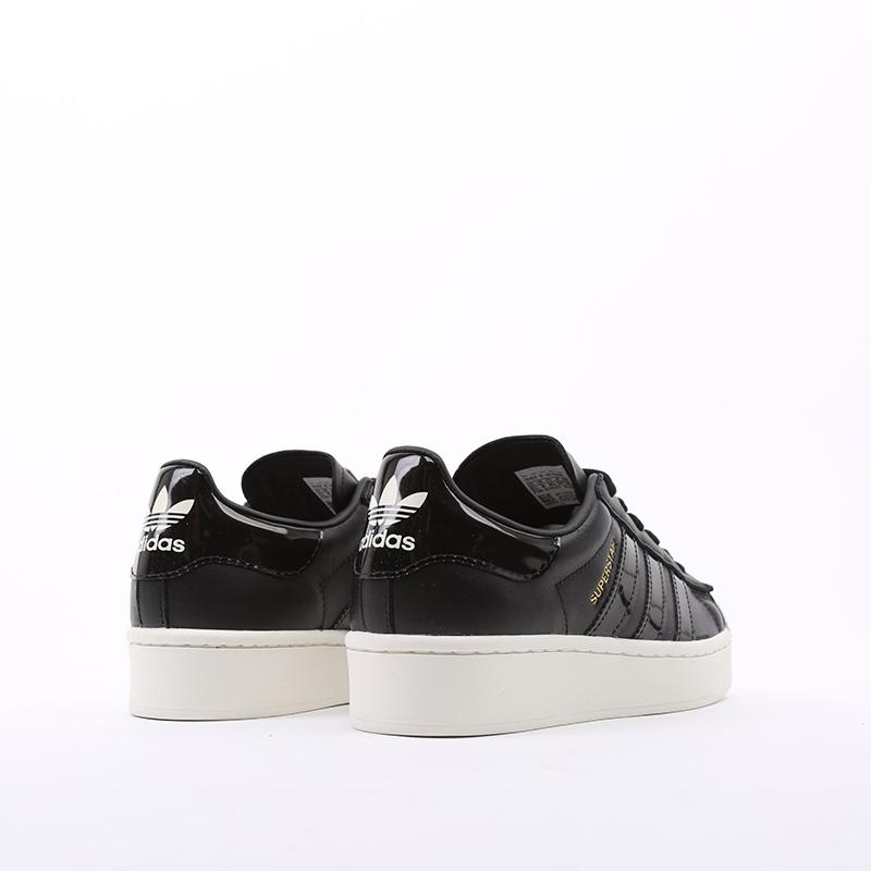 женские черные  кроссовки adidas superstar bold w FV3354 - цена, описание, фото 3
