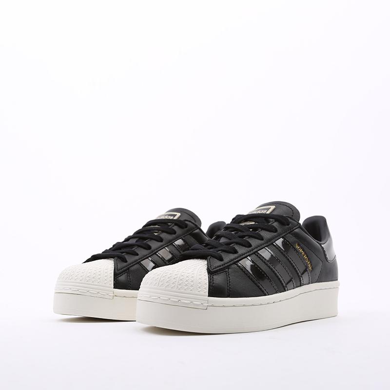 женские черные  кроссовки adidas superstar bold w FV3354 - цена, описание, фото 4