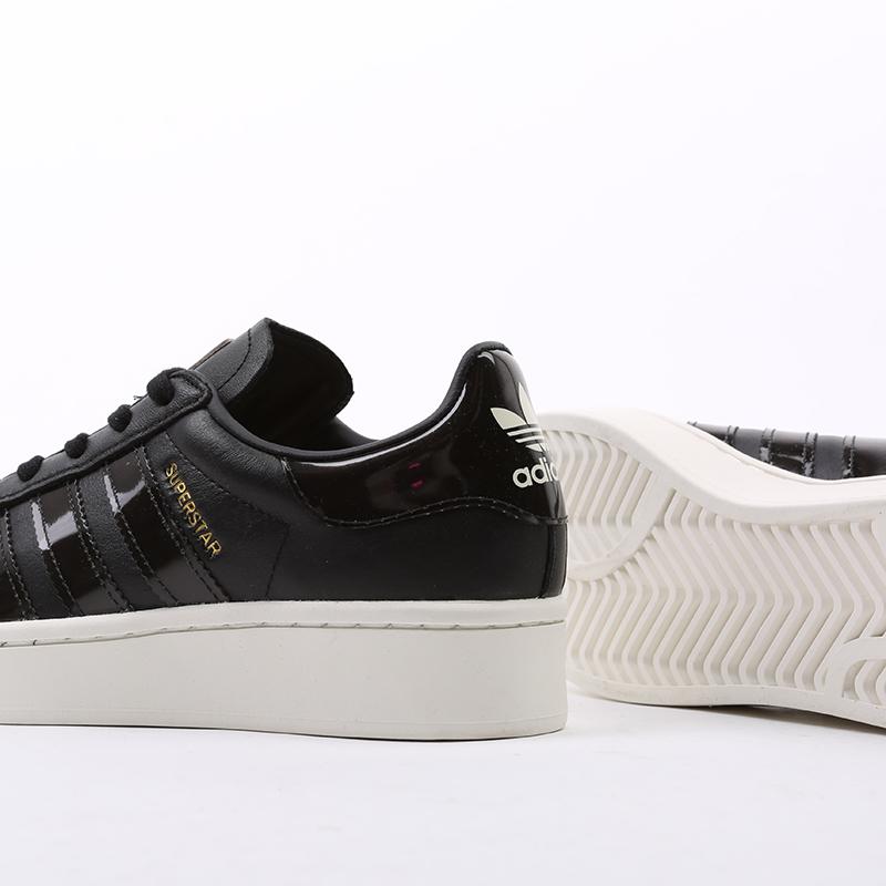 женские черные  кроссовки adidas superstar bold w FV3354 - цена, описание, фото 5