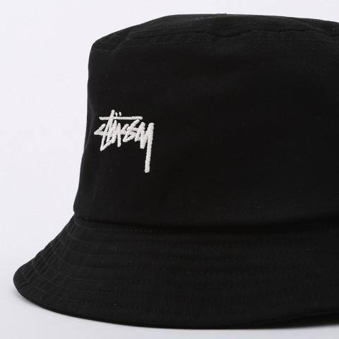 черную  панама stussy bucket hat 132974-black - цена, описание, фото 2