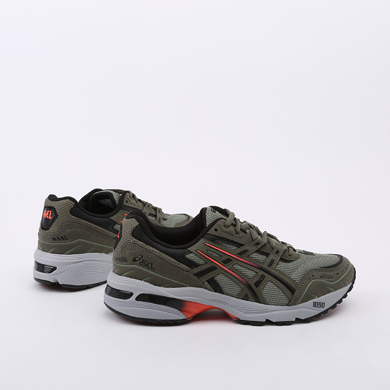 мужские зеленые  кроссовки asics gel-1090 1021A385-300 - цена, описание, фото 2