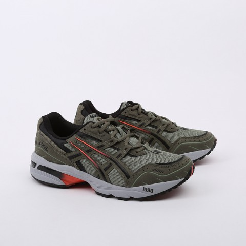 мужские зеленые  кроссовки asics gel-1090 1021A385-300 - цена, описание, фото 3