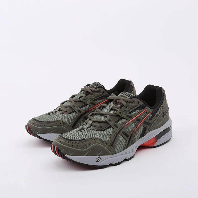 мужские зеленые  кроссовки asics gel-1090 1021A385-300 - цена, описание, фото 6