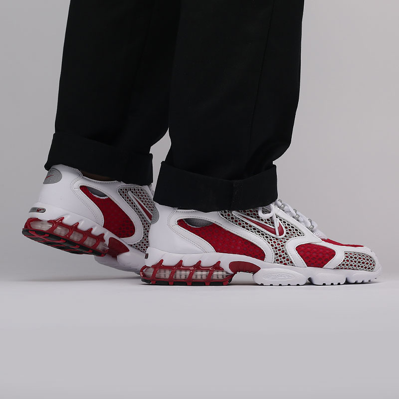женские красные, белые  кроссовки nike air zoom spiridon cage 2 CD3613-600 - цена, описание, фото 8