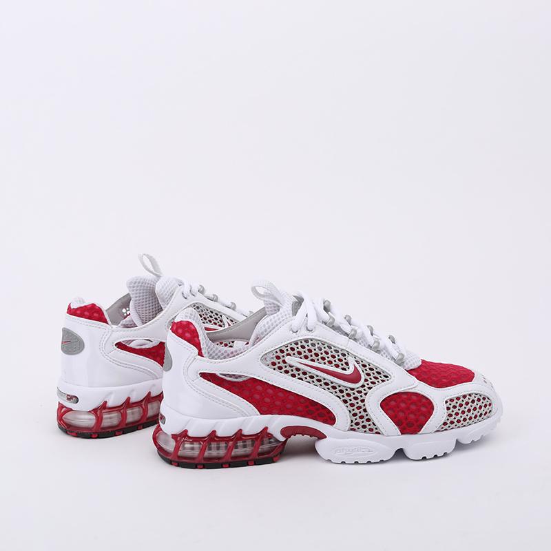 женские красные, белые  кроссовки nike air zoom spiridon cage 2 CD3613-600 - цена, описание, фото 2