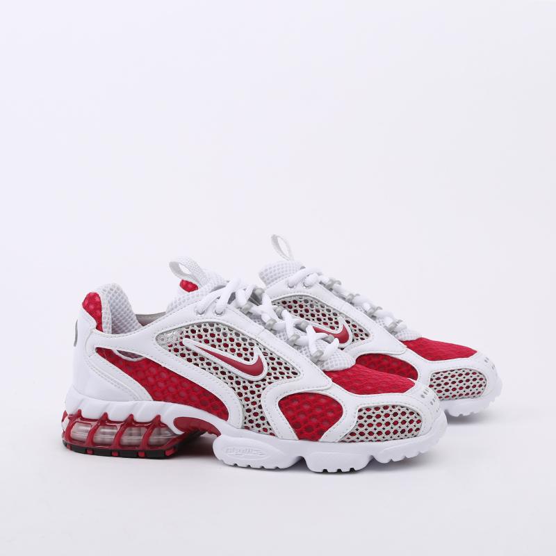 женские красные, белые  кроссовки nike air zoom spiridon cage 2 CD3613-600 - цена, описание, фото 3