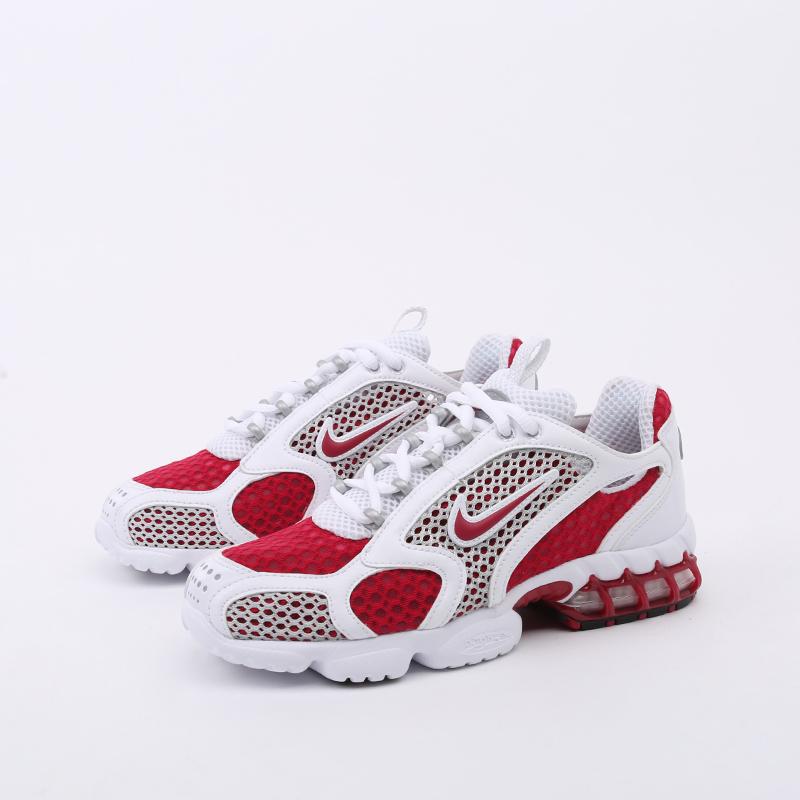 женские красные, белые  кроссовки nike air zoom spiridon cage 2 CD3613-600 - цена, описание, фото 6