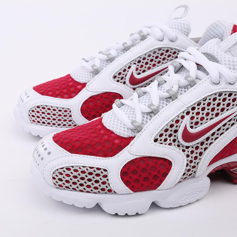 женские красные, белые  кроссовки nike air zoom spiridon cage 2 CD3613-600 - цена, описание, фото 7