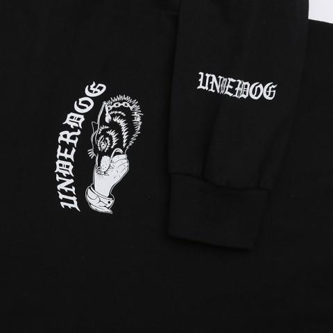 мужской чёрный  лонгслив underdog underdog logo Underdog Logo - цена, описание, фото 3