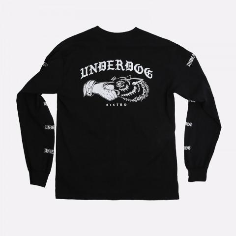 мужской чёрный  лонгслив underdog underdog logo Underdog Logo - цена, описание, фото 2