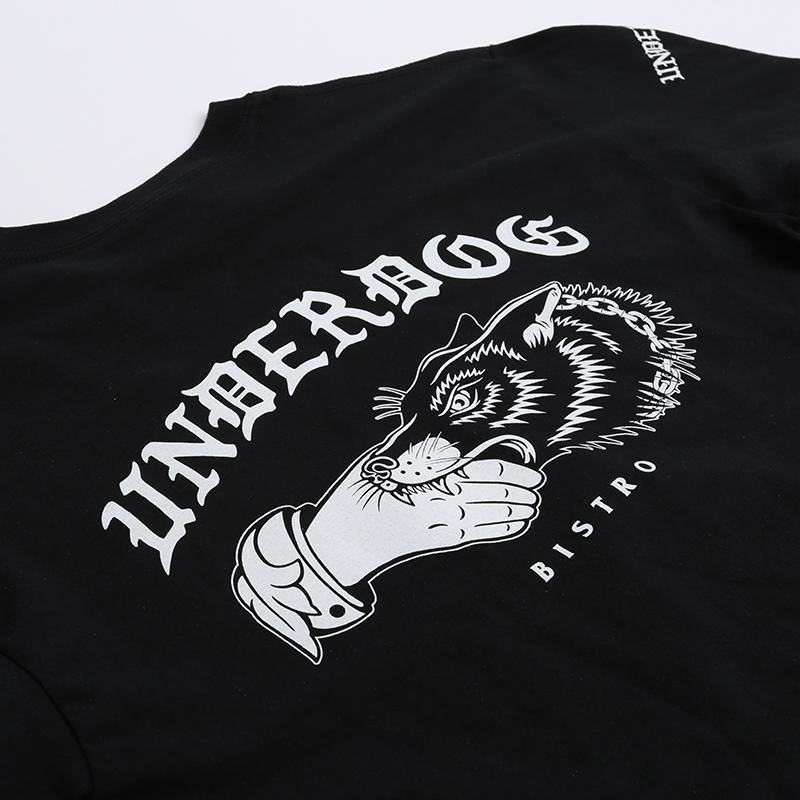 мужской чёрный  лонгслив underdog underdog logo Underdog Logo - цена, описание, фото 4