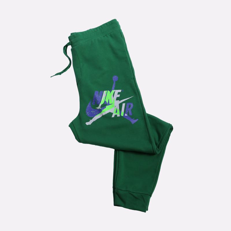 мужские зелёные  брюки jordan jumpman classics fleece CK2850-353 - цена, описание, фото 1