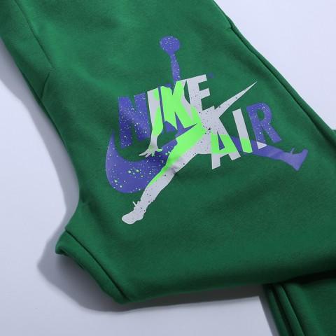 мужские зелёные  брюки jordan jumpman classics fleece CK2850-353 - цена, описание, фото 2