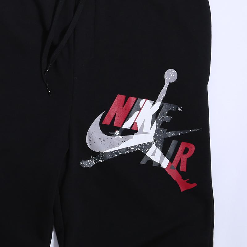 мужские чёрные  брюки jordan jumpman classics fleece CK2850-010 - цена, описание, фото 2