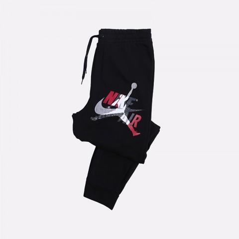 мужские чёрные  брюки jordan jumpman classics fleece CK2850-010 - цена, описание, фото 1