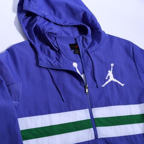 мужскую фиолетовую  куртку jordan jumpman logo jacket CJ4347-554 - цена, описание, фото 3