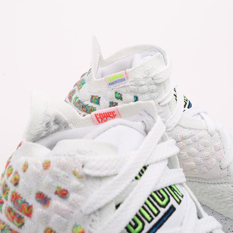белые  кроссовки nike lebron xvii BQ3177-100 - цена, описание, фото 6