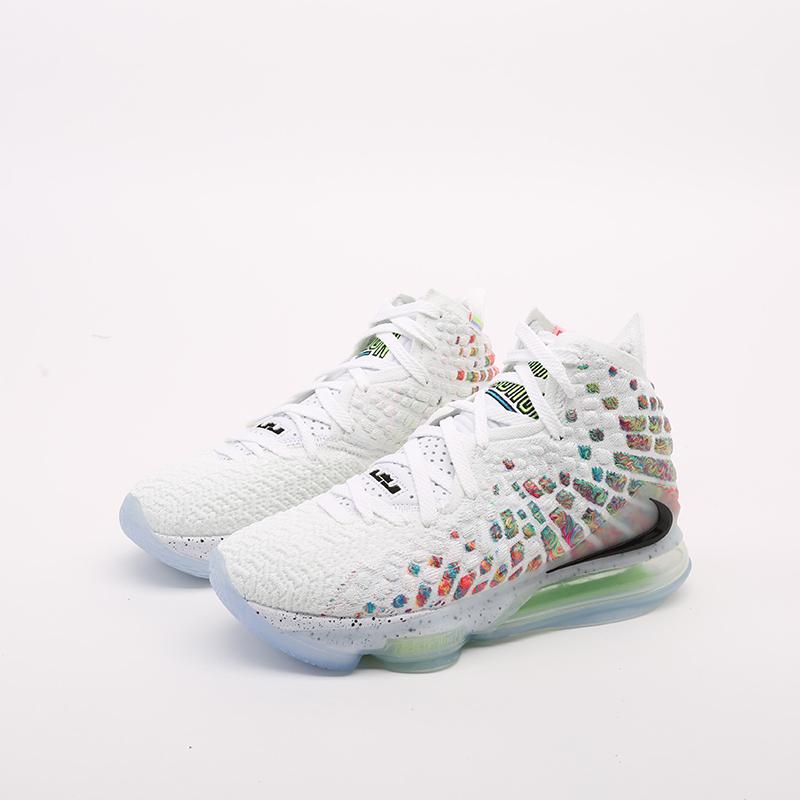 белые  кроссовки nike lebron xvii BQ3177-100 - цена, описание, фото 7