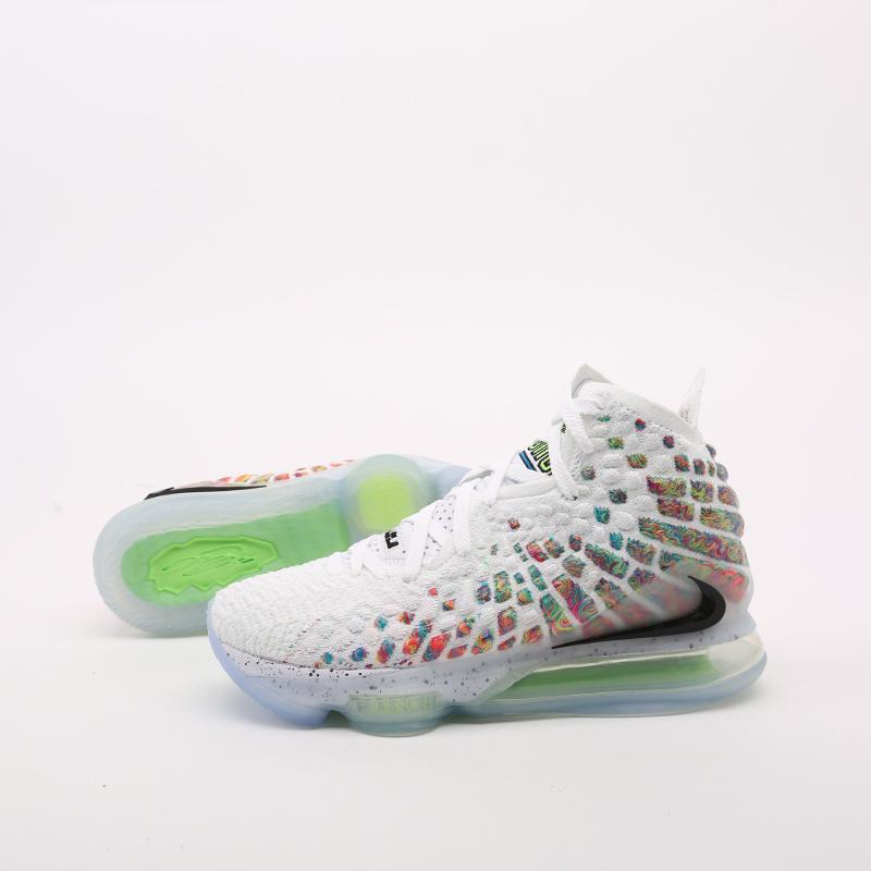 белые  кроссовки nike lebron xvii BQ3177-100 - цена, описание, фото 8