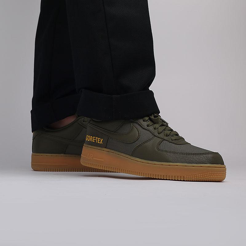 мужские зелёные  кроссовки nike air force 1 gtx CK2630-200 - цена, описание, фото 8