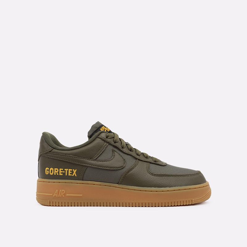 мужские зелёные  кроссовки nike air force 1 gtx CK2630-200 - цена, описание, фото 1