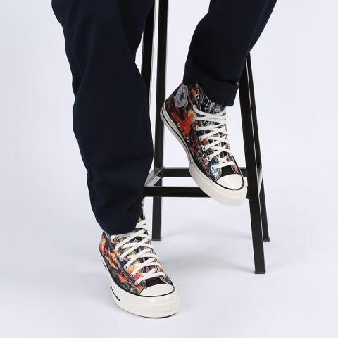 мужские разноцветные  кеды converse chuck70 hi 167761 - цена, описание, фото 7