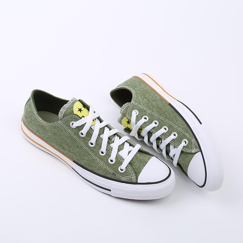 зелёные  кеды converse ctas ox 167663 - цена, описание, фото 2