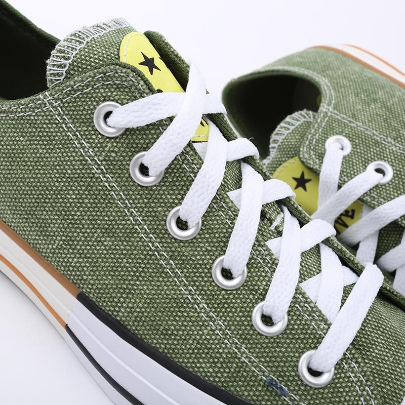 зелёные  кеды converse ctas ox 167663 - цена, описание, фото 3