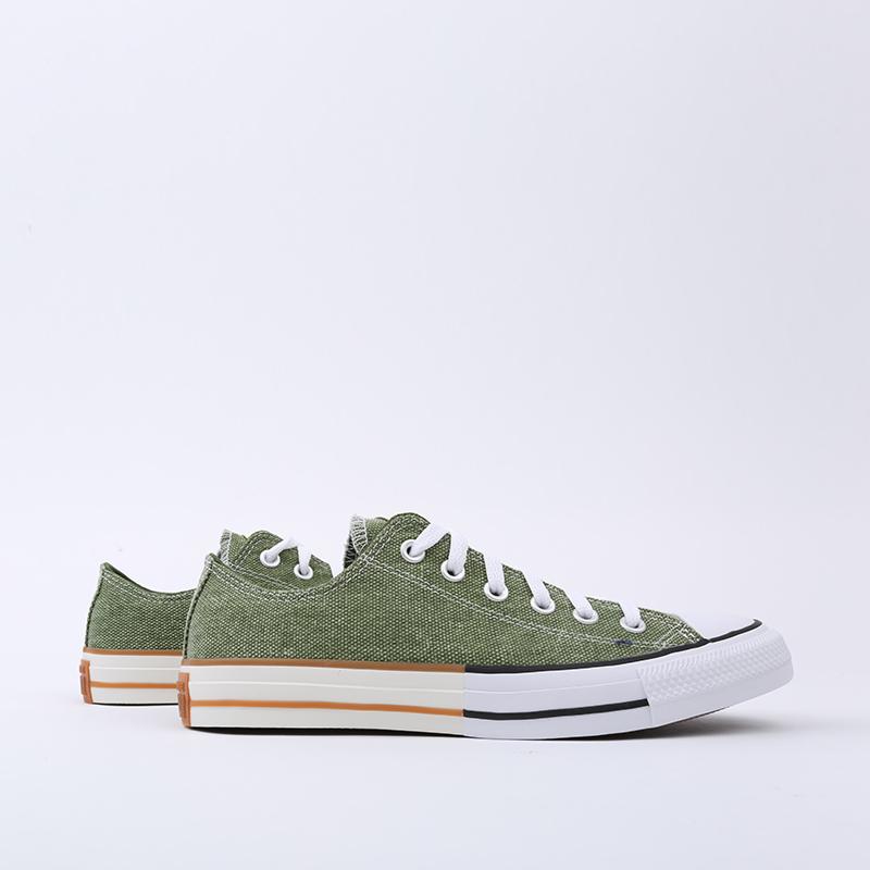 зелёные  кеды converse ctas ox 167663 - цена, описание, фото 6
