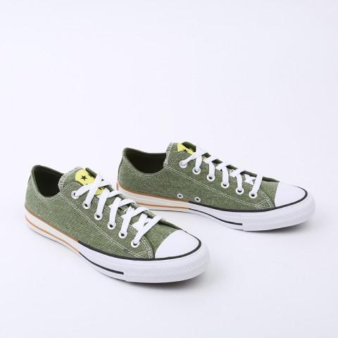 зелёные  кеды converse ctas ox 167663 - цена, описание, фото 7